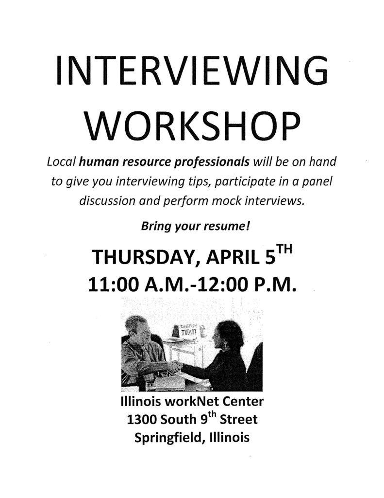 Interviewing Workshop @ The Illinois workNet Center